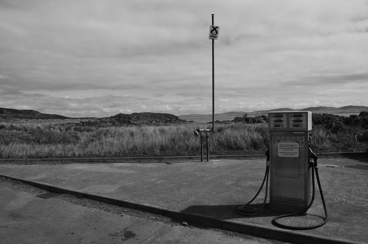 Colonsay Emptiness Empty Island Non-urban Scene Oil Petrol Petrol Station Pole Pump Remote Scotland