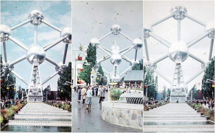 Weltaussstellung in Brüssel Juni 1958 Atomium Brussels Weltaussstellung World Exhibition World Exposition Atomium Atomium Belgium Atomium Brusse Atomium Bruxelle Atomium Bruxelles World Exibition World Expo World Expo 1958