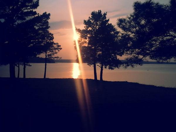 Relaxing Texas Skies Sunset Beautiful Nature Toledo Bend