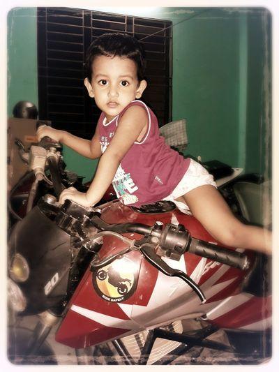 my boy on my bike... Family