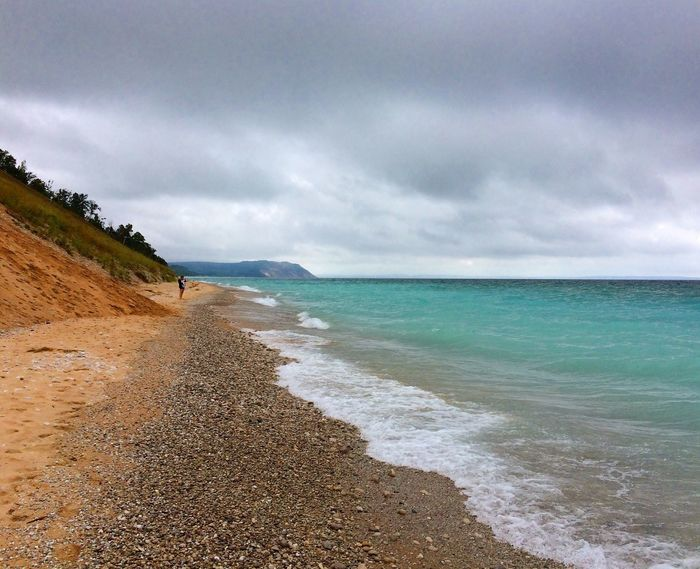 Lakemichigan Greatlakes Sleepingbeardunes Northernmichigan Gorgeous Beach Water Horizon Over Water Tranquil Scene Cloud - Sky Nature Coastline