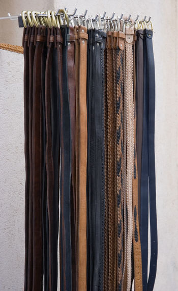 waist belts on a market - french riviera Abundance Belt  Belts Brown Choice Close-up Craft Fashion For Sale Girdle Hanging Industry Leather Market Market Stall No People Outdoors Retail  Selling Shop Shopping Street Market Variation Waist Waistbelt