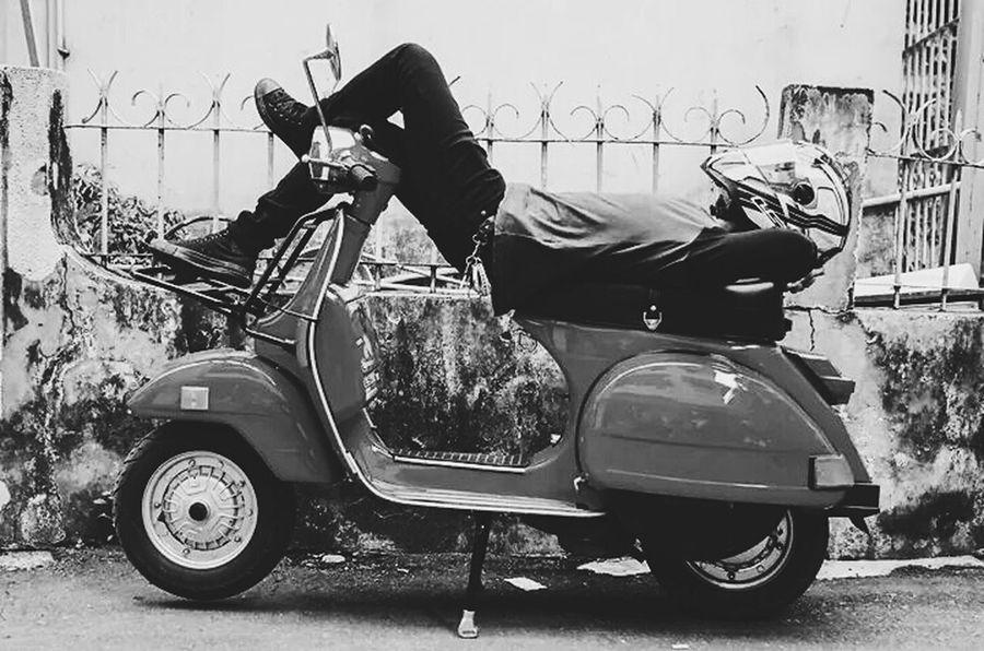 the scooterist spirit Vespa Vespapx Px150 Px82