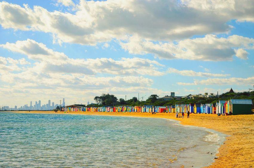 Colour Of Life Beach colourful Cabins  Melbourne Australia