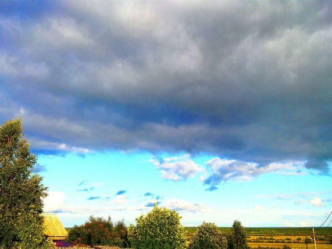 Наконец-то потеплело Taking Photos Summer Country Sky Amazing View Sunnyday