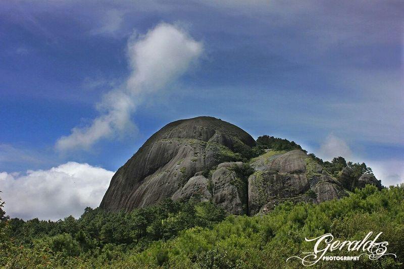 The Kyllang Rock. It's granite. This massive rock is situated at Mairang, West Khasi Hills District, Meghalaya Khasi_beauty Khasibelief Hugerocks