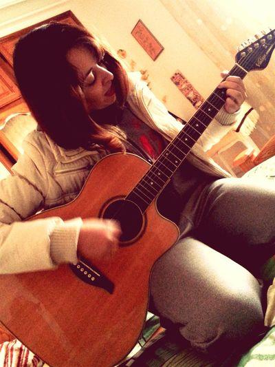 Taking Photos Mybeautifulsister Artist Playing Guitar Making Music Enjoying Having Fun :)