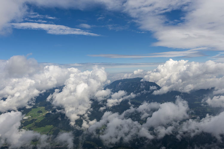 Above Aerial View Beauty In Nature Blue Cloud Cloud - Sky Cloudscape Cumulus Cumulus Cloud Day Fluffy High Up Majestic Meteorology Mountain Nature Non-urban Scene Outdoors Scenics Sea Sky Softness Tourism Tranquil Scene Tranquility