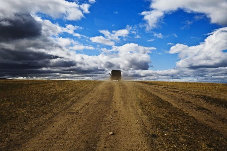 View Of Olkhon Island Road Long Road Banishing Point Olkhon Island Siberia Russia Clouds And Sky Colors Landscape_photography Geography Pic Endless Road Horizon Over Land Cloud_collection  Nature_collection Nature Photography