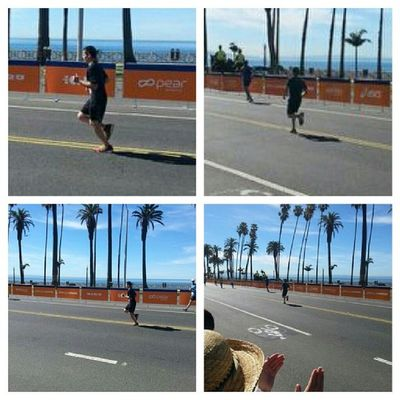 My son as he came in to the finishline. HeDidIt Alwaysproudofmykids Proudofyouson Happymama proudmama andmamacried lamarathon 2014