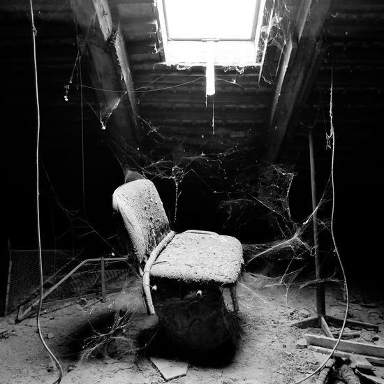 Horror story. part#2 Old Attic Attic Cobweb Oldchair Chair Dust Horror Spooky Destruction Crime Scene Abandoned Ghost Vampire Zombie