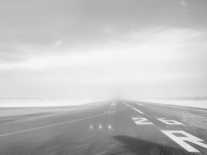 Winter runway.