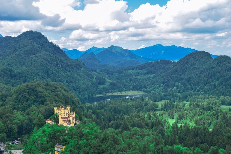Germany nature Castle Mountain Plant Tree Scenics - Nature Beauty In Nature Mountain Range Cloud - Sky Green Color Nature Sky Growth Land Tranquil Scene Tranquility Landscape Environment No People Day Forest Non-urban Scene