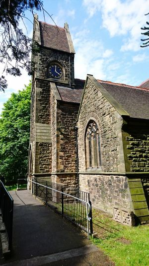 Church Churchyard Old Buildings Historical Building Brick Sacred Places Sacred Ecclesiastic Check This Out Taking Photos Hello World Church Tower Clock Tower Wombridge Parish Church,
