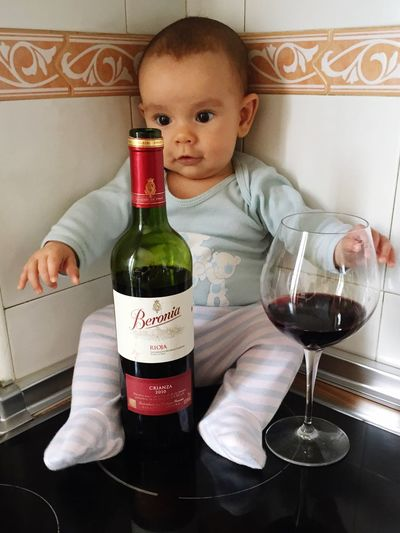 Hip... I Love My Baby  Enyoing Life Vino Tinto