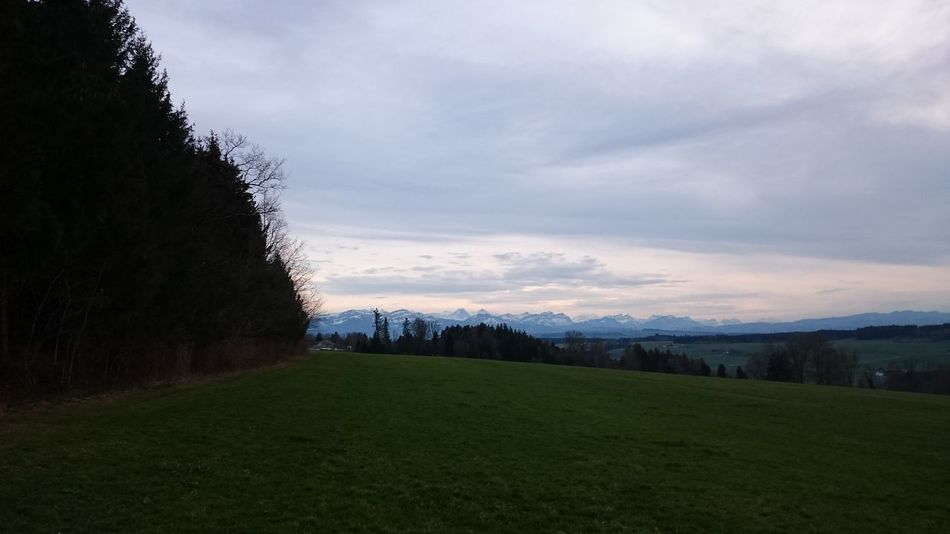 Cloudy Evening Sky Landscape Mountains No People Outdoors Sky Walk