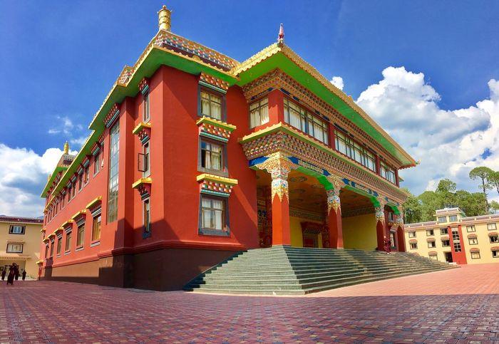 Beautiful temple of palpung Sky Built Structure Entrance Building Exterior Colour Your Horizn