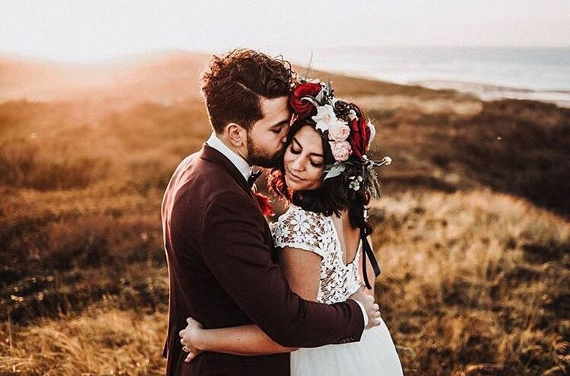Love Togetherness Romance Wedding Bridegroom Adults Only Bride Couple - Relationship Adult Heterosexual Couple Sunset Two People Wedding Dress Outdoors Happiness Grass People Young Women Young Adult Affectionate