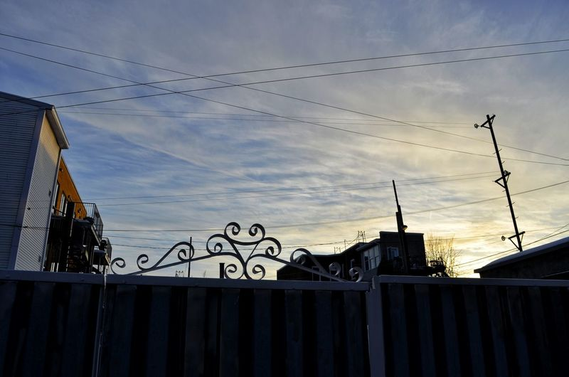 Bird City Sunset Silhouette Sky Architecture Cloud - Sky Building Exterior
