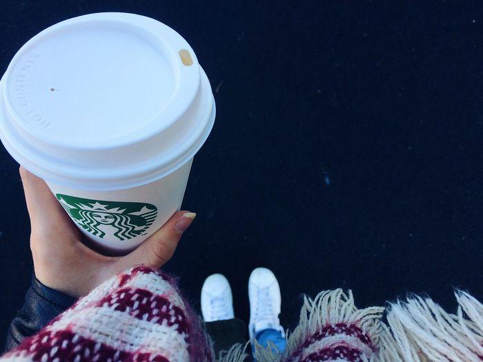 Starbucks Chai Latte Morning Nantes France Winter
