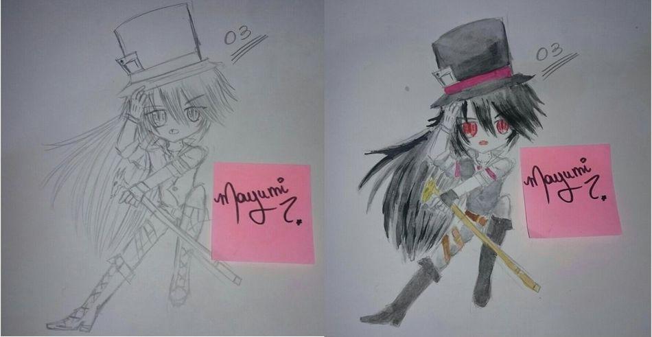 Draw number 4 .. Anime Chibi KAWAII Vampire Demon Animeboy Original Character Anime Boy