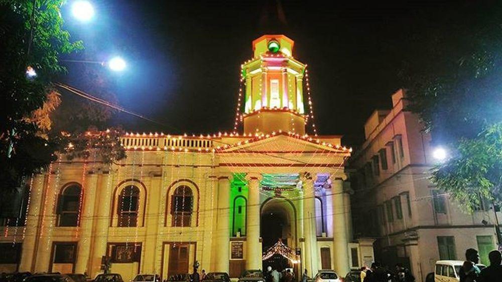 Church Stmarys NewYear Colours Lighting Lights Decoration India Kolkata Beautiful Street History Christmas Christian Holy Celebration Cold Winter Oldchurch