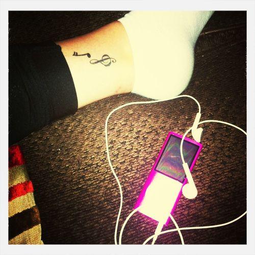 Ipod Music Tattoo Walking