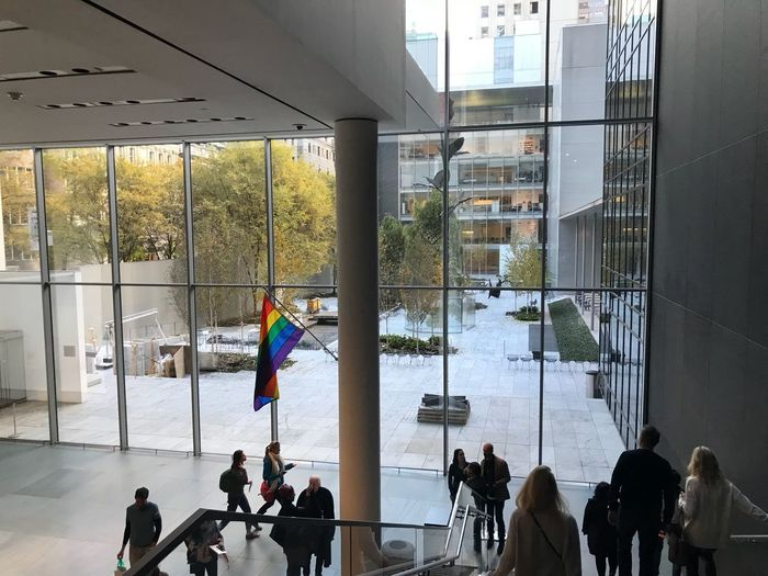 MOMA midday Moma N.Y. Moma Built Structure Real People Architecture Large Group Of People Flag Window Indoors  City