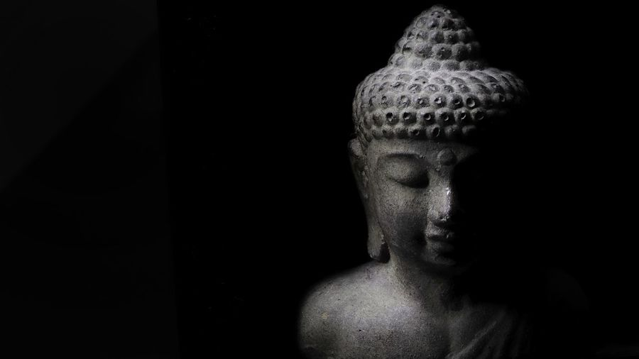 Religion And Tradition Shadows & Lights Light Buddha Buddha Statue Buddha Art Buddha Head Black Background Headshot Close-up Indoors  Statue Sculpture HUAWEI Photo Award: After Dark