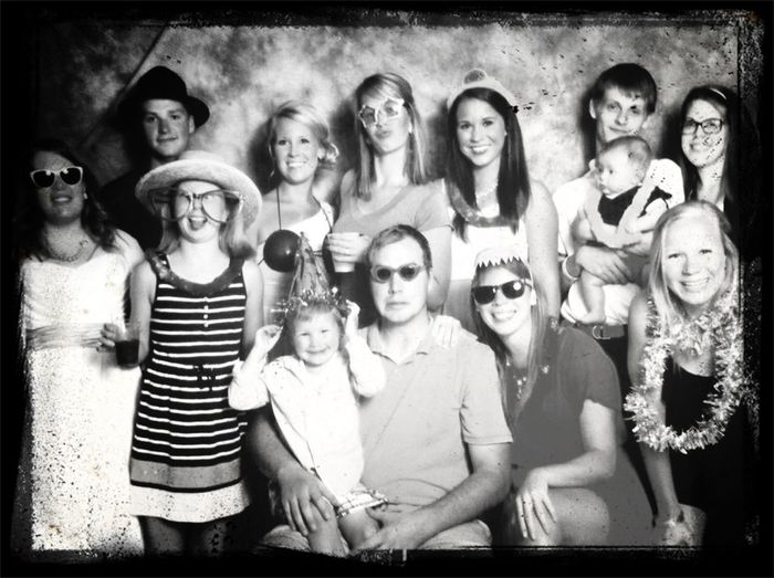 the family wayyy back in July! We are a good looking bunch!