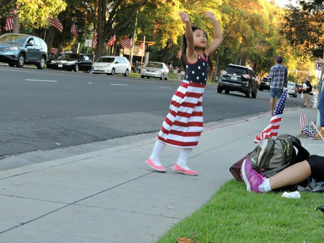 This little girl was dancing and shes so cute :) Dancing Girl Happy Santaclara Allysphoto