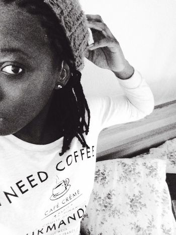 I need coffee ? Blackandwhite Home Myhair