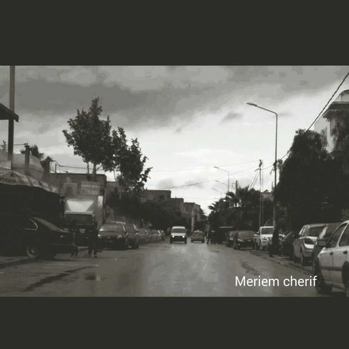 a photo taken by me of the street in Ain zaghouan at 7am in the morning. ☀☺