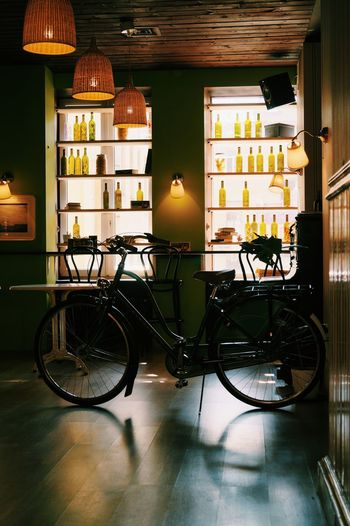 Bicycle Interior Design Green Vibes Cafe Cosy Hanging Out