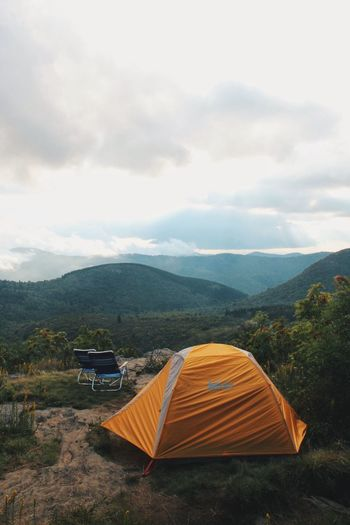 Adventure Beauty In Nature Camping Day Eco Tourism EyeEm Best Shots EyeEm Nature Lover Forest Hiking Landscape Mountain Mountain Range Nature No People Outdoors Scenics Sky Tent Tranquility