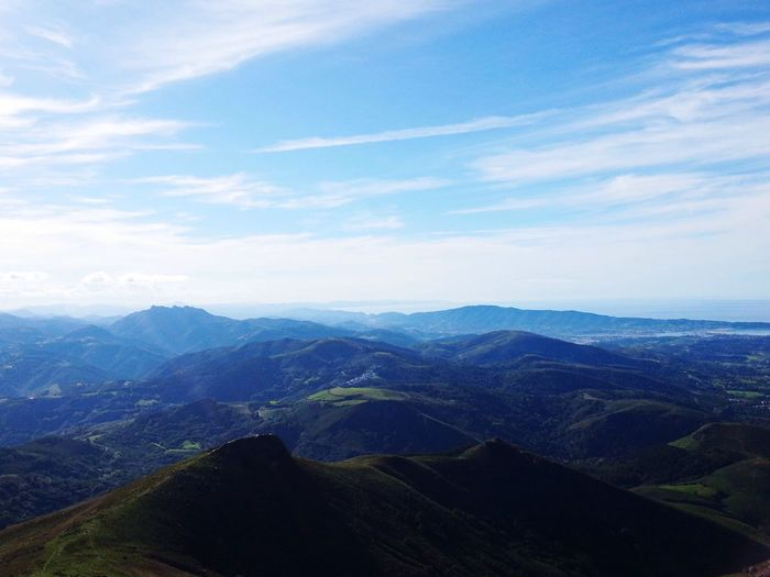 Sky Scenics Mountain Landscape Beauty In Nature Tranquil Scene Nature Mountain Range Tranquility SPAIN Pays Basque Rhune Outdoors No People Day Travel