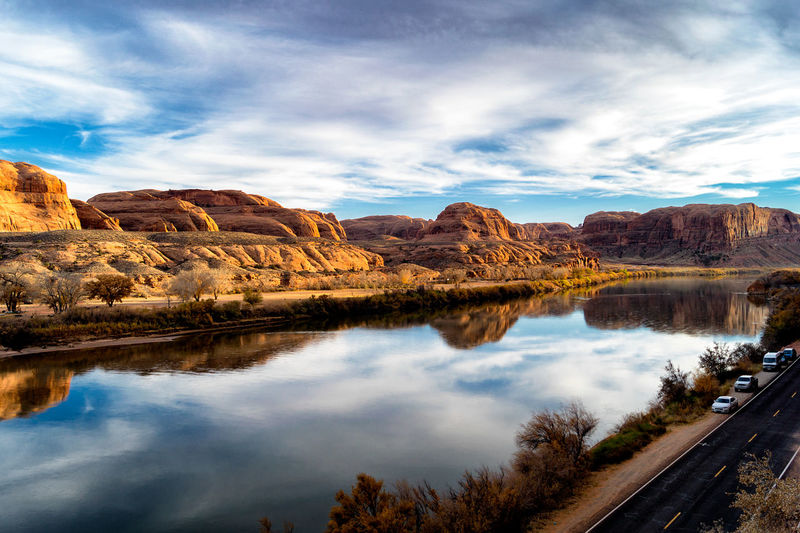 Moab  Moab, Utah Nature Nature Photography Utah Utah Scenery Beauty In Nature Climbing Views Clouds Landscape Landscape_photography Landscapes Nature Outdoor Photography Outdoors River Riverscape