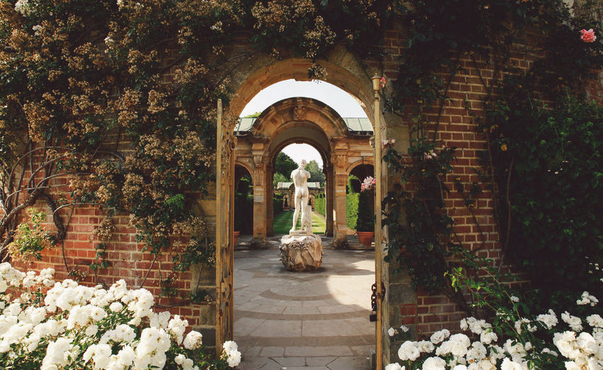 Arch gate leading to garden