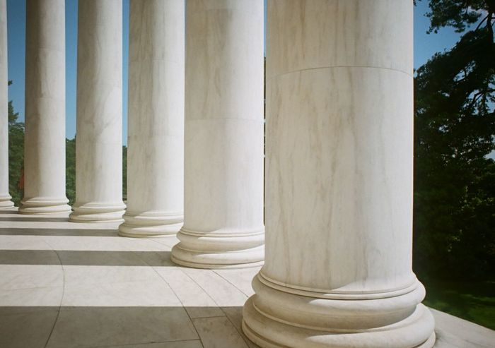 Columns at the Jefferson Memorial with shadows. Architectural Column Art Art And Craft Column Creativity Geometry Historic History Jefferson Memorial Memorial Monument Ornate Shadow Symmetry Vertical Symmetry Washington, D. C.