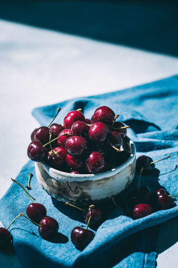 fresh harvested cherries in a ceramic bowl - hard light and shadows   daylight foodphotography Bowl Ceramics Nikonphotography Daylight Photography Lightandshadow Foodphotography Food Photography Red Currant Large Group Of Objects Focus On Foreground Selective Focus Cherry Red Berry Fruit No People Still Life Close-up Freshness Fruit Food And Drink Food Healthy Eating TheWeekOnEyeEM