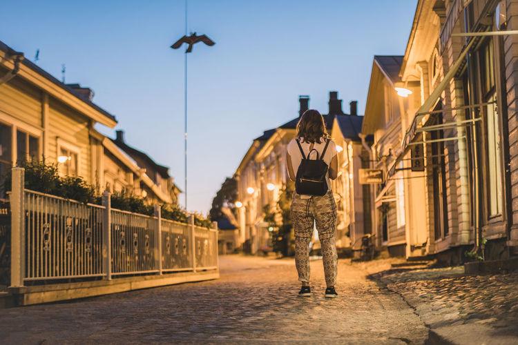 Night in porvoo, finland
