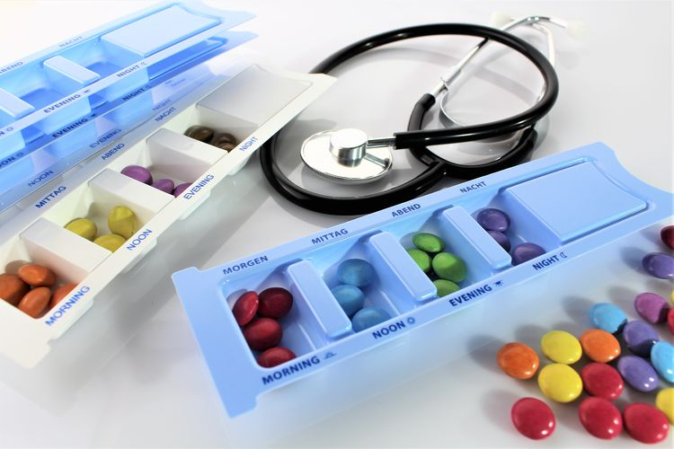 An image of a medication box Box PILLBOX Close-up Healthcare And Medicine Indoors  Large Group Of Objects Medication Medicine Pill Pillboxes Polls Prescription Medicine