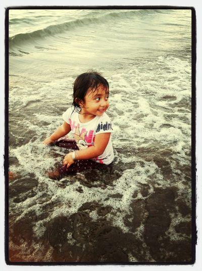 On The Beach Baby May Enjoying Life Love ♥ Mizz Nunuy Kiddos Taking Pictures Life Is A Beach Beach Photography EyeEm Indonesia