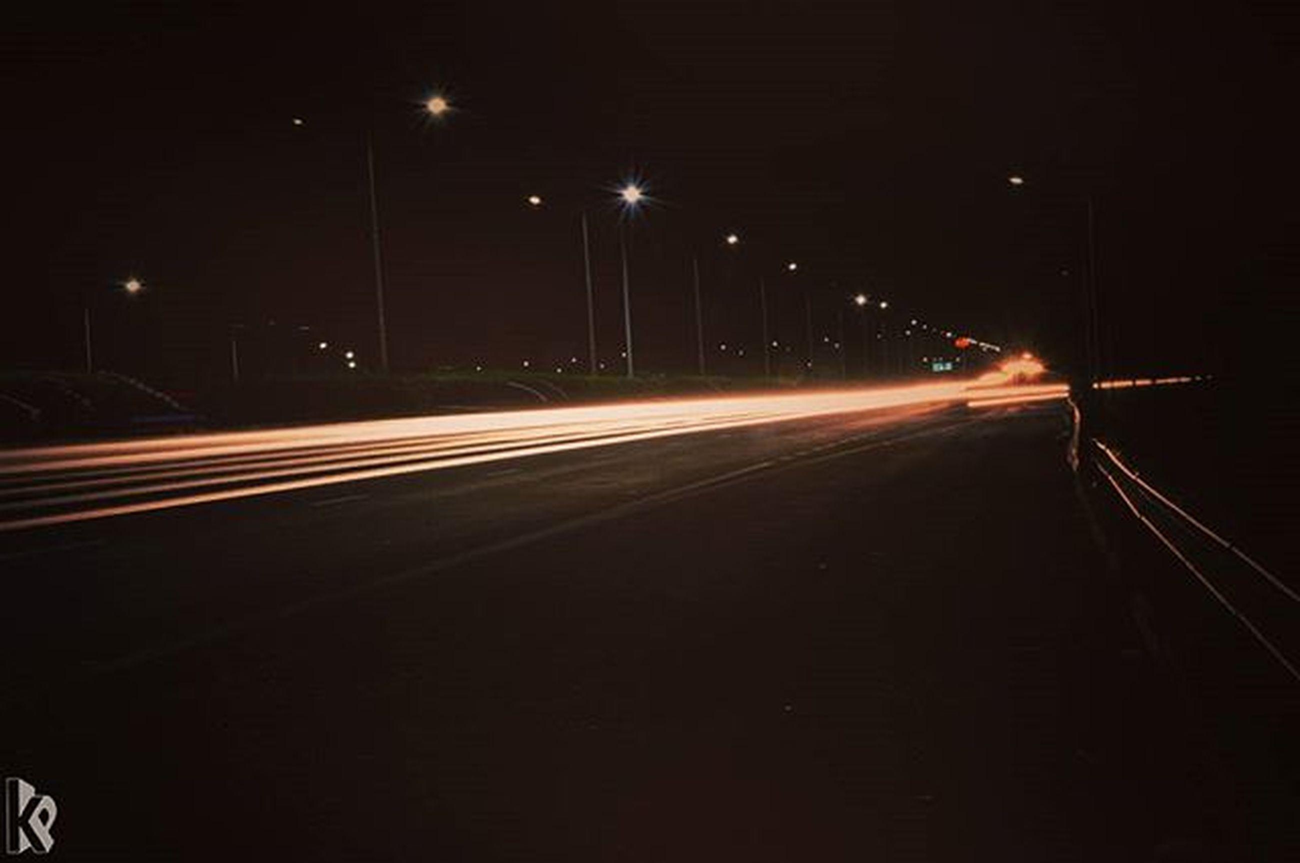 illuminated, night, transportation, long exposure, light trail, speed, motion, blurred motion, road, the way forward, street light, on the move, road marking, diminishing perspective, traffic, highway, street, mode of transport, vanishing point, lighting equipment