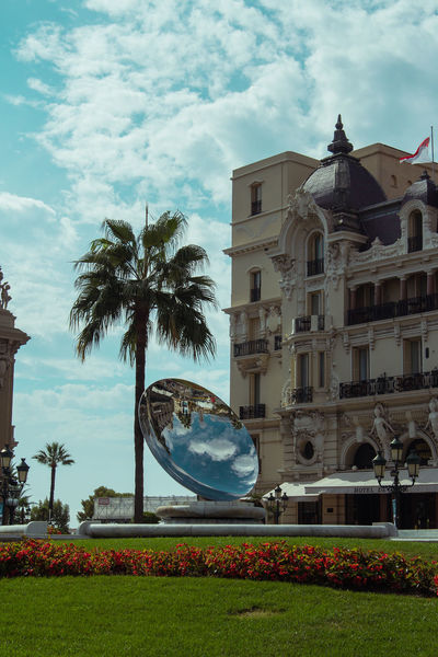 Architecture Building Exterior Built Structure Casino Famous Place Historic History Mirror Monaco Monte Carlo Sky Vacation