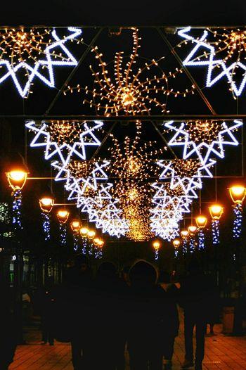 Night Illuminated Star Shape Celebration Christmas Christmas Decoration Outdoors No People City City Life Christmas Decorations Christmas Lights Smederevo