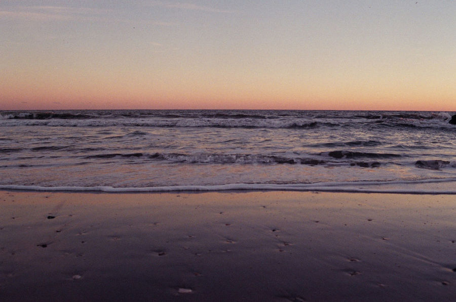 Beach Beauty In Nature Calm Coastline Film Photography Golden Hour Horizon Over Water Idyllic Nature Ocean Orange Color Remote Rockaway Beach, Queens, N Y Scenics Sea Seascape Shore Sky Sunset Tranquil Scene Tranquility Water Wave