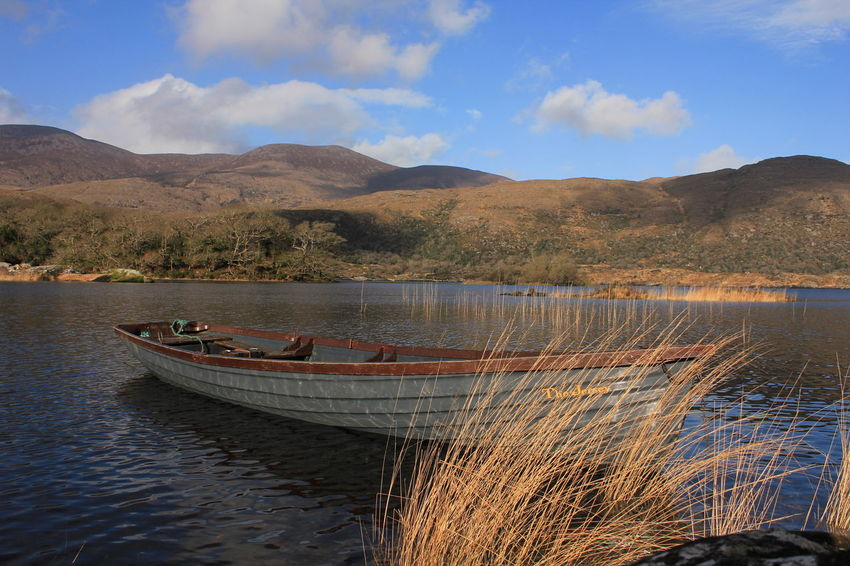 Lakes Of Killarney, Co, Kerry, Ireland. Boat. Landscape Outdoors No People Nautical Vessel Mountain Range Water Mountain Scenics Travel Destinations Sky Day