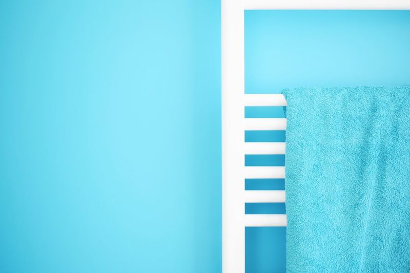 Close-Up Of Towel Rack
