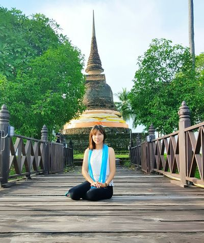 my trips..Sukhotahi city One Person Sitting Child Full Length Outdoors People Serene People Real People Sky Childhood Tree Day Beauty In Nature Adult Nature Lotus Position Trip Sukhothaihistoricalpark Sukhothai Thailand Girls North Thailand_allshots Oldtemples Modle